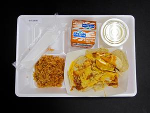 Primary view of object titled 'Student Lunch Tray: 01_20110330_01C5896'.