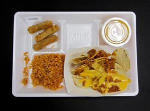 Primary view of object titled 'Student Lunch Tray: 01_20110330_01C5900'.