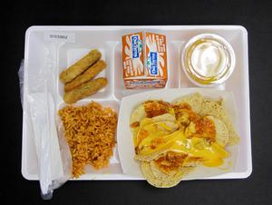 Primary view of object titled 'Student Lunch Tray: 01_20110330_01C5902'.