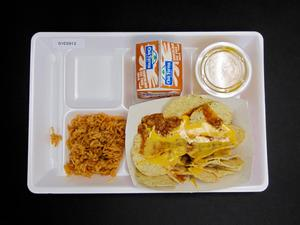 Primary view of object titled 'Student Lunch Tray: 01_20110330_01C5912'.