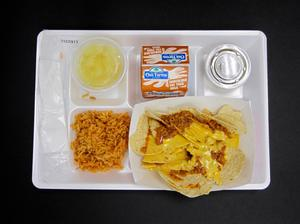 Primary view of object titled 'Student Lunch Tray: 01_20110330_01C5917'.
