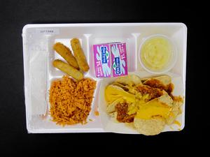 Primary view of object titled 'Student Lunch Tray: 01_20110330_01C5922'.