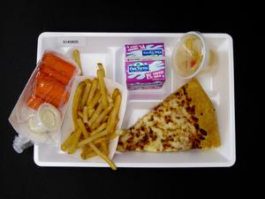 Primary view of object titled 'Student Lunch Tray: 01_20110401_01A5820'.