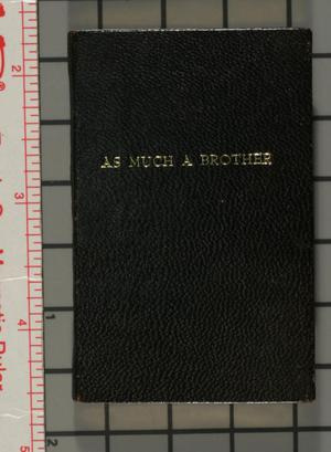 Primary view of object titled 'Elihu Burritt: as much a brother [variant binding]'.