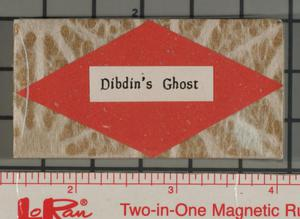 Primary view of object titled 'Dibdin's ghost'.