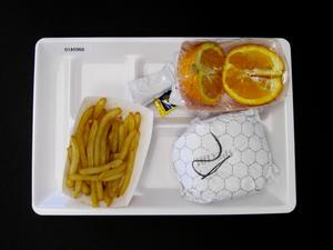 Primary view of object titled 'Student Lunch Tray: 01_20110401_01A5966'.