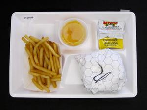Primary view of object titled 'Student Lunch Tray: 01_20110401_01A5978'.