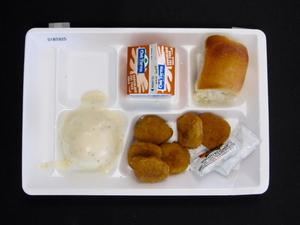 Primary view of object titled 'Student Lunch Tray: 01_20110401_01B5925'.