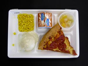 Primary view of object titled 'Student Lunch Tray: 01_20110401_01B5926'.