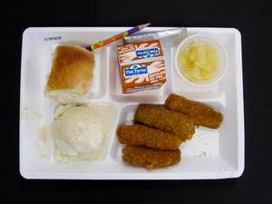 Primary view of object titled 'Student Lunch Tray: 01_20110401_01B5928'.