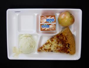 Primary view of object titled 'Student Lunch Tray: 01_20110401_01B5931'.