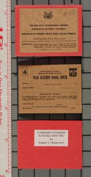 Primary view of object titled 'Consumer rationing in World War Two'.