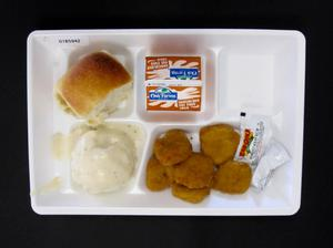 Primary view of object titled 'Student Lunch Tray: 01_20110401_01B5942'.