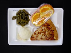 Primary view of object titled 'Student Lunch Tray: 01_20110401_01B5953'.