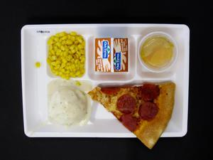 Primary view of object titled 'Student Lunch Tray: 01_20110401_01B5958'.