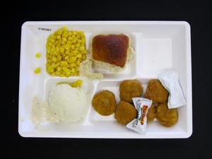 Primary view of object titled 'Student Lunch Tray: 01_20110401_01B5967'.