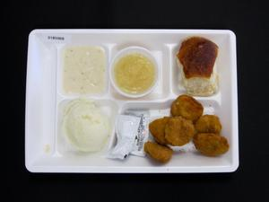 Primary view of object titled 'Student Lunch Tray: 01_20110401_01B5968'.