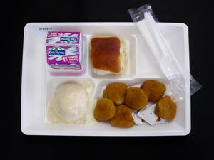 Primary view of Student Lunch Tray: 01_20110401_01B5979