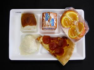 Primary view of object titled 'Student Lunch Tray: 01_20110401_01B5980'.