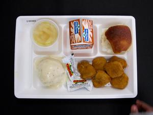Primary view of object titled 'Student Lunch Tray: 01_20110401_01B5969'.