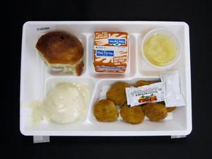 Primary view of object titled 'Student Lunch Tray: 01_20110401_01B5984'.