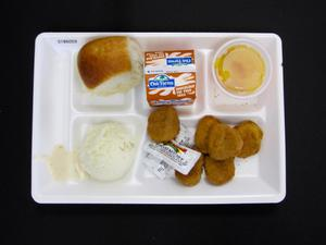 Primary view of object titled 'Student Lunch Tray: 01_20110401_01B6059'.
