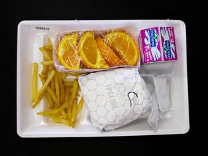 Primary view of object titled 'Student Lunch Tray: 02_20110411_02A5918'.