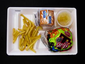 Primary view of object titled 'Student Lunch Tray: 02_20110411_02A5808'.