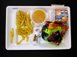 Primary view of object titled 'Student Lunch Tray: 02_20110411_02A5946'.