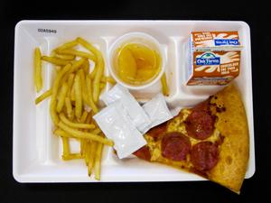 Primary view of object titled 'Student Lunch Tray: 02_20110411_02A5949'.