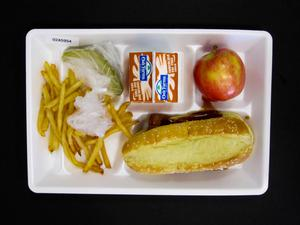 Primary view of Student Lunch Tray: 02_20110411_02A5954