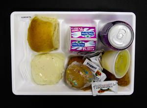 Primary view of object titled 'Student Lunch Tray: 02_20110411_02B5815'.
