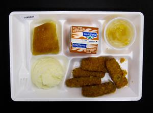 Primary view of object titled 'Student Lunch Tray: 02_20110411_02B5827'.