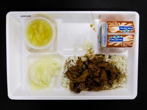 Primary view of object titled 'Student Lunch Tray: 02_20110411_02B5945'.