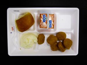 Primary view of object titled 'Student Lunch Tray: 02_20110411_02B5985'.