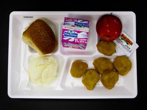Primary view of object titled 'Student Lunch Tray: 02_20110411_02B5997'.