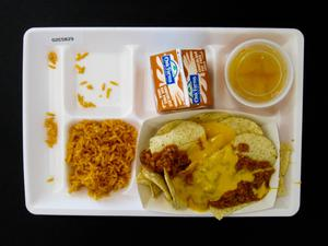 Primary view of object titled 'Student Lunch Tray: 02_20110411_02C5829'.