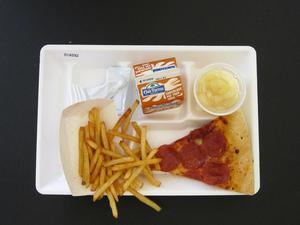 Primary view of object titled 'Student Lunch Tray: 01_20110413_01A5902'.