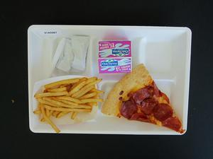 Primary view of object titled 'Student Lunch Tray: 01_20110413_01A5987'.