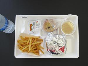 Primary view of object titled 'Student Lunch Tray: 01_20110413_01A5989'.