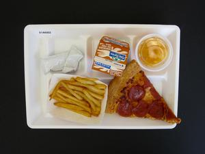 Primary view of object titled 'Student Lunch Tray: 01_20110413_01A6002'.