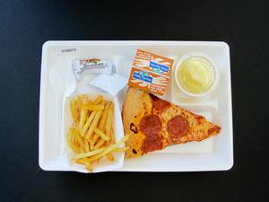 Primary view of object titled 'Student Lunch Tray: 01_20110413_01A6013'.