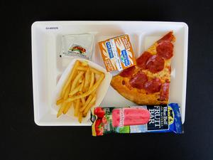 Primary view of object titled 'Student Lunch Tray: 01_20110413_01A6028'.