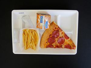 Primary view of object titled 'Student Lunch Tray: 01_20110413_01A6029'.