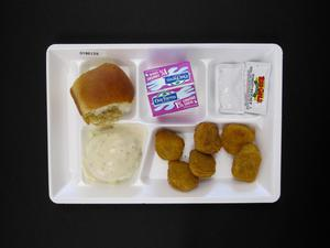 Primary view of object titled 'Student Lunch Tray: 01_20110413_01B6129'.