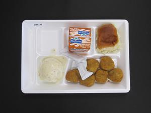 Primary view of object titled 'Student Lunch Tray: 01_20110413_01B6142'.