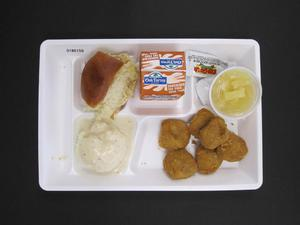 Primary view of object titled 'Student Lunch Tray: 01_20110413_01B6159'.