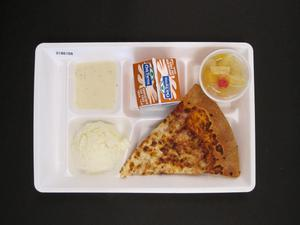 Primary view of object titled 'Student Lunch Tray: 01_20110413_01B6166'.