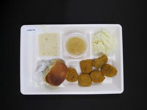Primary view of object titled 'Student Lunch Tray: 01_20110413_01B6176'.