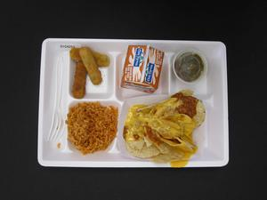 Primary view of object titled 'Student Lunch Tray: 01_20110413_01C4253'.